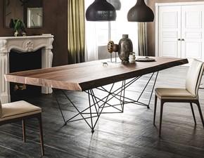 Tavolo in legno rettangolare Gordon deep wood Cattelan in offerta outlet