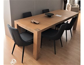 Tavolo in legno rettangolare In rovere nodato Artigianale a prezzo scontato