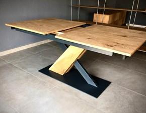 Tavolo in legno rettangolare Incrocio  Artigianale a prezzo ribassato