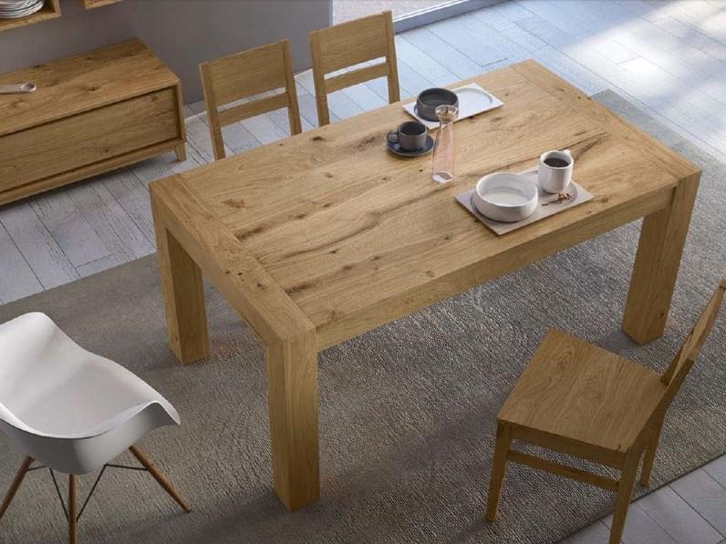 Tavolo in legno rettangolare kali artigianale a prezzo for Tavolo a t