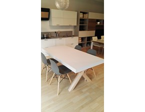 Tavolo in legno rettangolare Leonardo bicolor La vecchia arte in Offerta Outlet