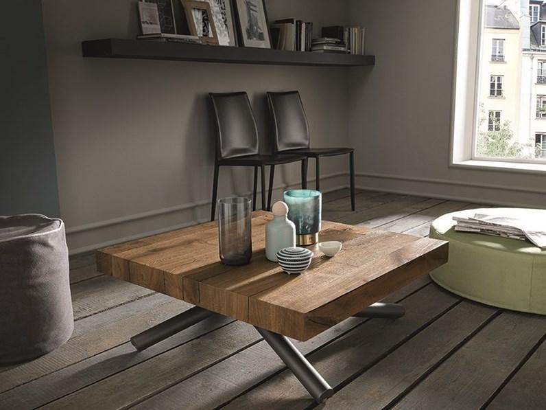 Tavolo Tavolino Trasformabile.Tavolino Trasformabile In Tavolo Rettangolare Levante Altacom A Prezzo Ribassato