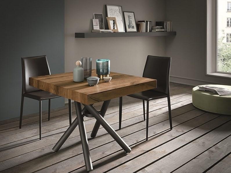 tavolino trasformabile in tavolo rettangolare levante