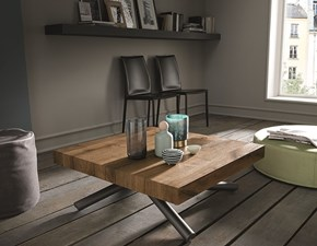 Tavolino trasformabile in tavolo rettangolare Levante Altacom a prezzo ribassato