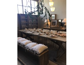 Tavolo in legno rettangolare Lux Artigianale in offerta outlet
