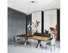 Tavolo in legno rettangolare Mad max wood Cattelan italia in offerta outlet