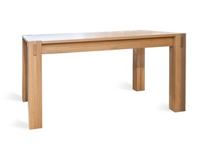 Tavolo in legno rettangolare Massiccio Artigianale in offerta outlet
