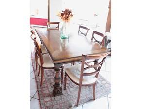 Tavolo in legno rettangolare Medicea Faber mobili in offerta outlet