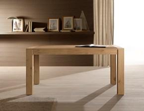 Tavolo in legno rettangolare Melbourne Pizzolato in offerta outlet