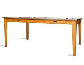 Tavolo in legno rettangolare Palissandro Artigianale in offerta outlet