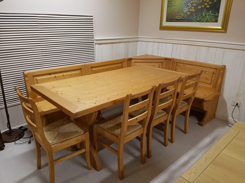 Tavolo in legno rettangolare Panca zanotto con sedie ...