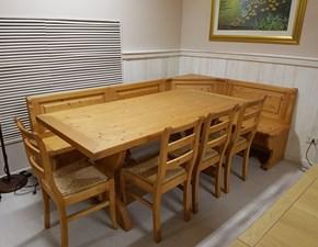 Tavolo in legno rettangolare Panca zanotto con sedie Zanotto in Offerta Outlet