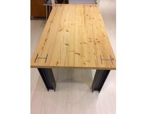 Tavolo in legno rettangolare Power Artigianale a prezzo ribassato