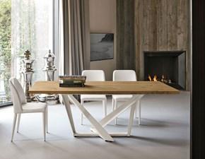 Tavolo in legno rettangolare Priamo 200 Mottes selection in offerta outlet