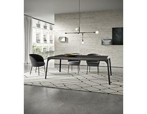 Tavolo in legno rettangolare Releve' Presotto in offerta outlet