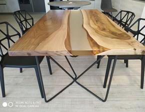 Tavolo in legno rettangolare Resina Artigianale a prezzo ribassato