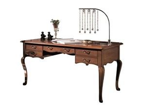 Tavolo in legno rettangolare Sceivania  con gambi sagomati in promo sconto del 50% Artigianale a prezzo ribassato