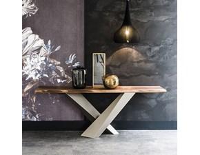 Tavolo in legno rettangolare Stratos consolle Cattelan in Offerta Outlet
