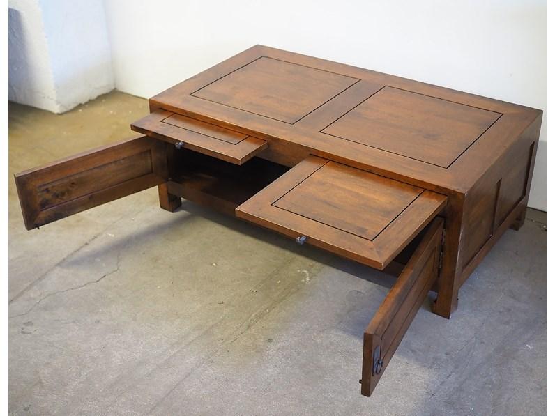 Tavolino In Legno Etnico.Tavolo In Legno Rettangolare Tavolino Zen Giapponese Basso Da The
