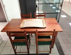 Tavolo in legno rettangolare Tavolo - 4 sedie Riva 1920 a prezzo scontato