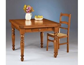 Tavolo in legno rettangolare Tavolo allungabile a libro Mottes selection a prezzo scontato