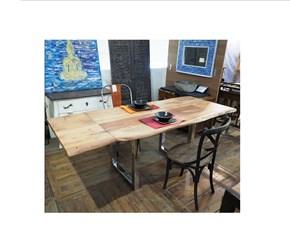 Tavolo in legno rettangolare Tavolo allungabile gambe cromate Nuovi mondi cucine a prezzo ribassato