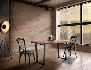 Tavolo in legno rettangolare Tavolo allungabile sawer industrial legno e ferro in offerta Outlet etnico a prezzo scontato