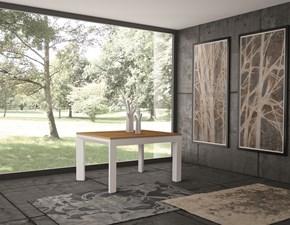 Tavolo in legno rettangolare Tavolo bicolore Artigianale a prezzo scontato