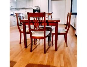 Tavolo in legno rettangolare Tavolo con sedie Artigianale a prezzo scontato