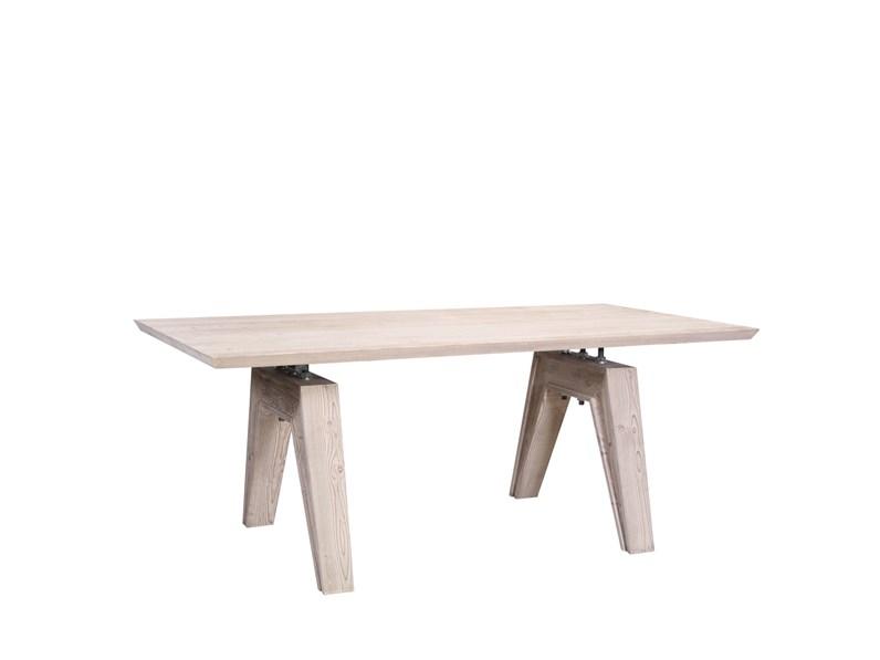 Tavolo In Legno Rettangolare Tavolo Design Moderno In Legno Massello Light In Offerta Nuovi Mondi Cucine