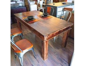 Tavolo in legno rettangolare Tavolo etnico india massiccio in offerta  Outlet etnico in Offerta Outlet
