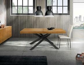 Tavolo in legno rettangolare Tavolo impiallacciato rovere nodato allungabile Mottes selection in Offerta Outlet
