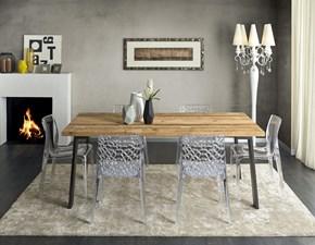 Tavolo in legno rettangolare Tavolo in conifera vecchia pt003 Artigiani veneti in offerta outlet