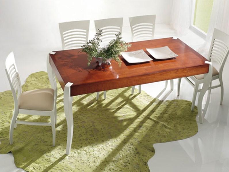 Tavolo in legno rettangolare tavolo in legno di ciliegio for Mobili di marca in offerta