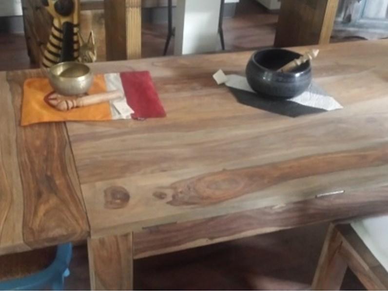 Tavolo in legno rettangolare tavolo in noce naturale for Tavolo allungabile in legno massello offerta