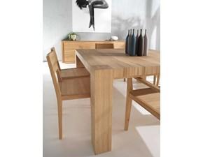 Tavolo in legno rettangolare Tavolo in rovere vecchio 140 x 90 Md work in offerta outlet