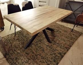 Tavolo in legno rettangolare Tavolo industrial design base ferro legno in offerta Outlet etnico in offerta outlet