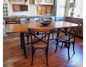 Tavolo in legno rettangolare Tavolo industrial ghisa e lagno  Outlet etnico in Offerta Outlet