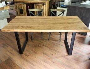 Tavolo in legno rettangolare Tavolo industrial in offerta allungabile  Nuovi mondi cucine in Offerta Outlet