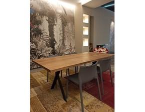 Tavolo in legno rettangolare Tavolo massello gambe a x Artigianale a prezzo scontato