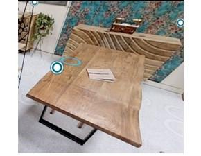 Tavolo in legno rettangolare Tavolo maui legno tronco unico massello di teak  Nuovi mondi cucine in Offerta Outlet