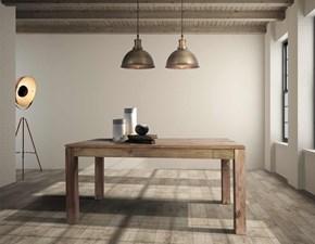 Tavolo in legno rettangolare Tavolo  nature allungabile con prolunghe a scomparsa   Outlet etnico a prezzo scontato