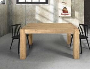 Tavolo in legno rettangolare Tavolo norvegese in abete spazzolato Lion's a prezzo scontato