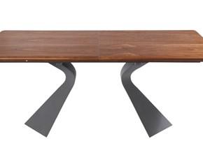 Tavolo in legno rettangolare Tavolo pranzo design allungabile legno e metallo  Outlet etnico in offerta outlet