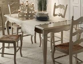 Tavolo in legno rettangolare Tavolo rettangolare allungabile laccato scontato del 35% Artigianale in Offerta Outlet