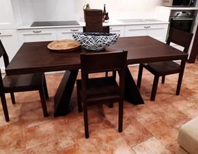 Tavolo in legno rettangolare Tavolo-sedie Mirandola in offerta outlet