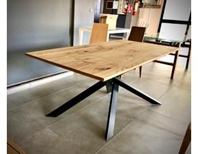 Tavolo in legno rettangolare Tavolo shangai  Artigianale in offerta outlet