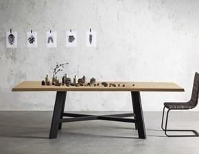 Tavolo in legno rettangolare Thor 240 fisso Point house in offerta outlet