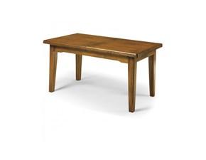 Tavolo in legno rettangolare Tokio Artigianale in offerta outlet
