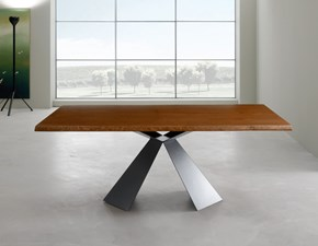 Tavolo in legno rettangolare Tokyo fisso180x100 di Eurosedia in Offerta Outlet